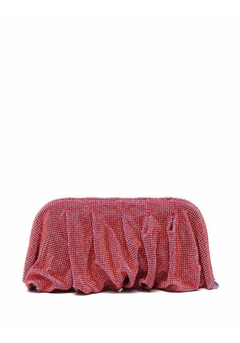 Red crystal-embellished clutch bag - women  BENEDETTA BRUZZICHES | 4865SNST