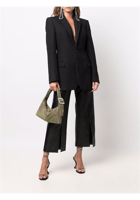 Green-gold rhinestone-embellished hand bag - women  BENEDETTA BRUZZICHES | 4906GRNGLD