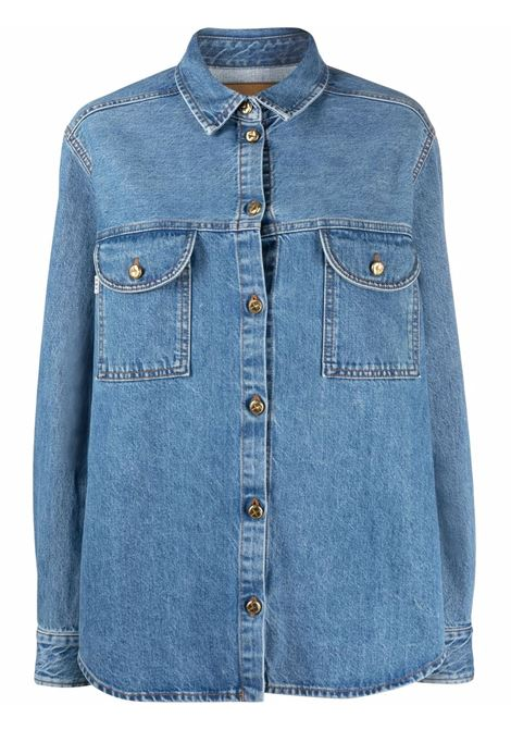 Long-sleeved denim shirt in blue - women  BLAZÉ MILANO | BSH05DNMY