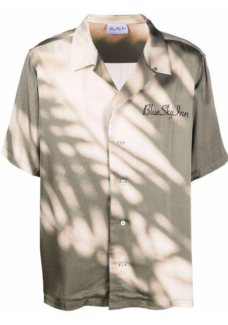 Camicia con stampa tie-dye verde - uomo BLUE SKY INN | BS2101SH005AO