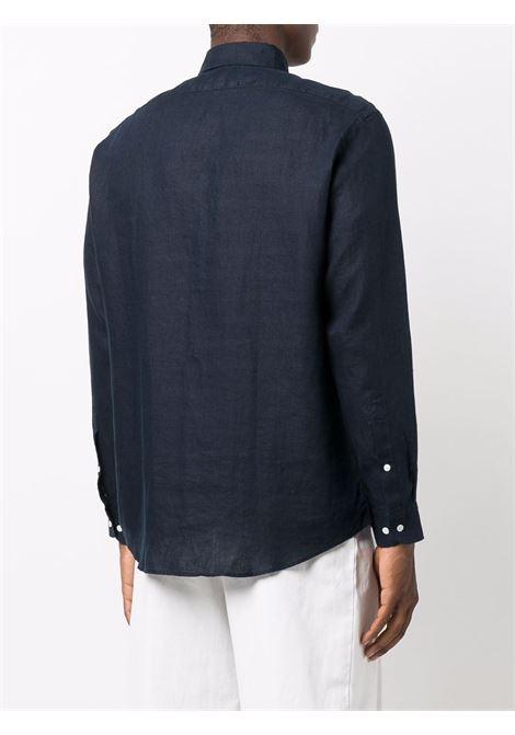 Button-down linen shirt in dark navy - men  BLUEMINT | MARTINDRKNVY