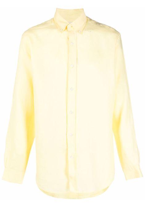 Button-down linen shirt in sunset yellow - men  BLUEMINT | MARTINSNST