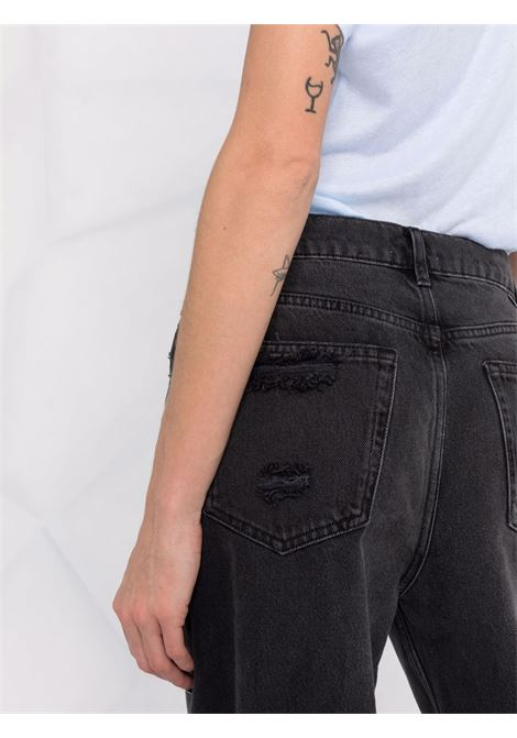 Jeans a gamba dritta consumati in nero - donna BOYISH | 114141FTLATTRCTN