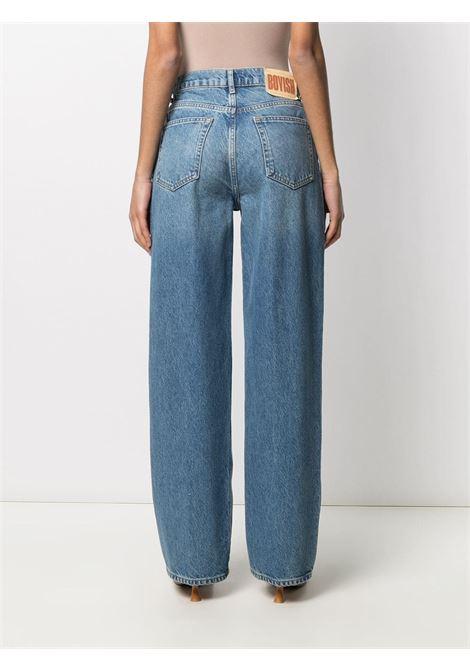 Jeans a vita alta blue- donna BOYISH | 114166FTLS