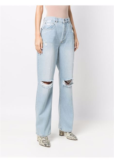 Jeans a vita alta a gamba dritta in blu - donna BOYISH | 114180IMLV