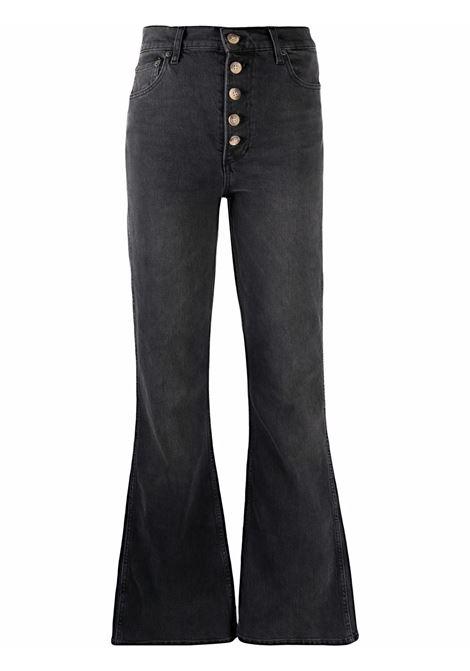 Jeans in denim a gamba larga in nero - donna BOYISH | 213053MNLFT