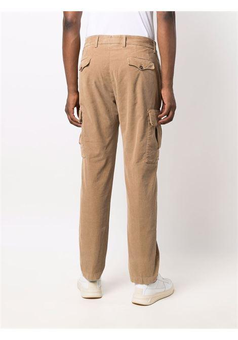 Pantaloni cargo dritti in velluto a coste colore marrone - uomo BRIGLIA 1949   BG6442178507113