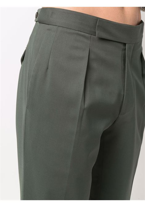 Concealed-front fastening chinos in green - men  BRIGLIA 1949 | CHELSEAS42110000162