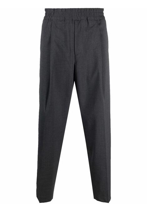 Elasticated-waist trousers in grey - men  BRIGLIA 1949 | SAVOYS42110000080