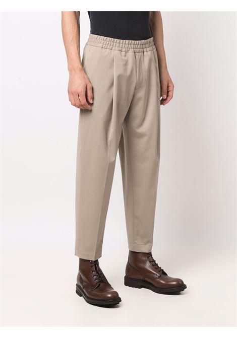 Elasticated-waist trousers in beige - men  BRIGLIA 1949 | SAVOYS42110000103