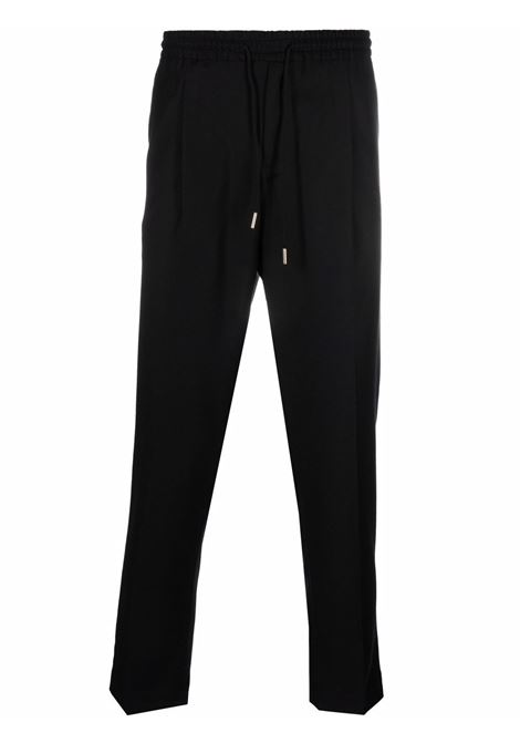 Pantaloni con piega stirata e coulisse in vita in nero - uomo BRIGLIA 1949   WIMBLEDONS42112000010