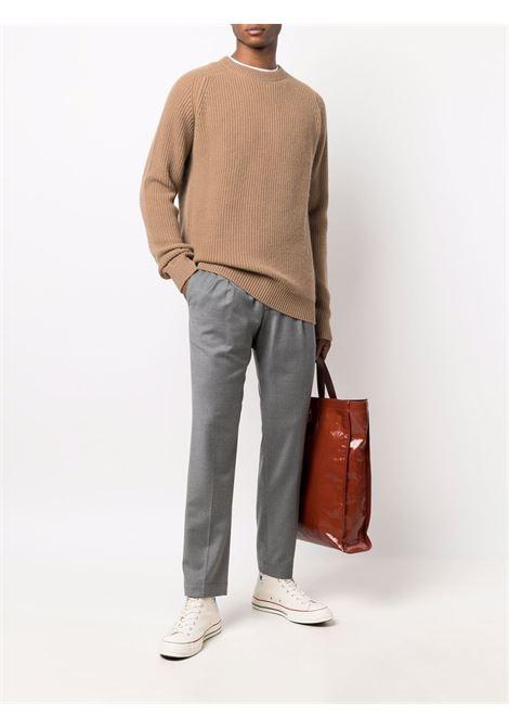Pantaloni con piega stirata e coulisse in vita in grigio - uomo BRIGLIA 1949   WIMBLEDONS42112000060