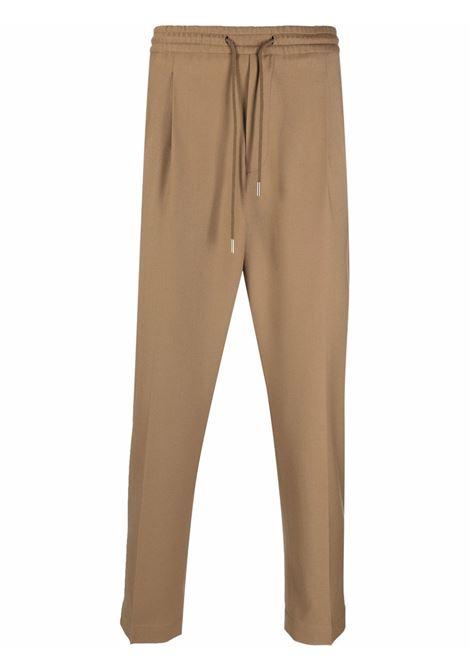 Pantaloni con piega stirata e coulisse in vita in marrone - uomo BRIGLIA 1949   WIMBLEDONS42112000133