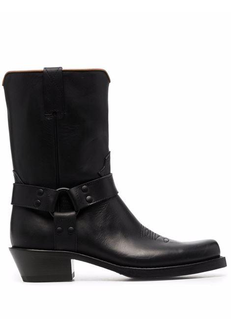 Black Elba mid-calf cowboy boots - men  BUTTERO | BRT10101