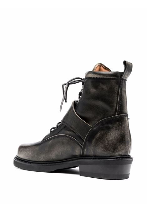 Black distressed-finish leather ankle boots - men  BUTTERO | BTR103RUB01