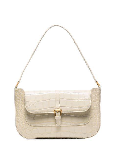 Miranda bag with croc effect in cream - women  BY FAR | 19FWMDASCEDMEDCRM