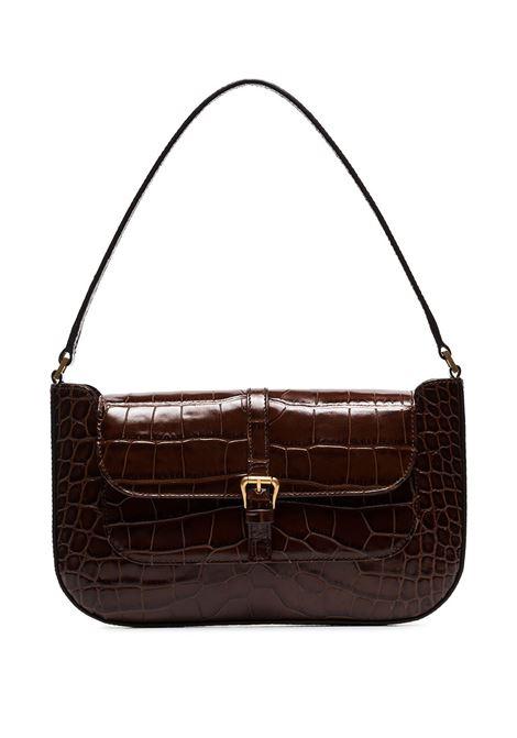 Miranda bag with croc effect in broen - women  BY FAR | 19PFMDASNEDMEDNTLL