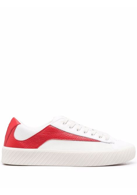 Sneakers rodina in bianco e rosso - donna BY FAR | 21FWROAKWNRGRLWNR