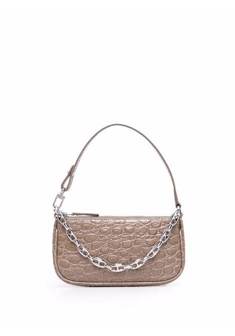 Rachel mini bag with croc effect in grey - women  BY FAR | 21PFMIRAMUDCCESMAMD