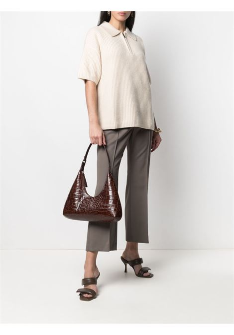 Amber shoulder bag with croc effect in brown - women  BY FAR | 21SSAMRSNEDLARNTLL