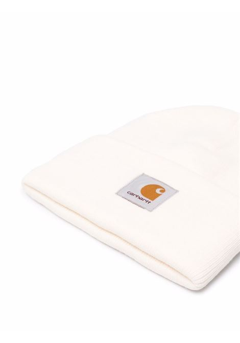 Logo knitted beanie in black - men  CARHARTT | I02022206D6XX
