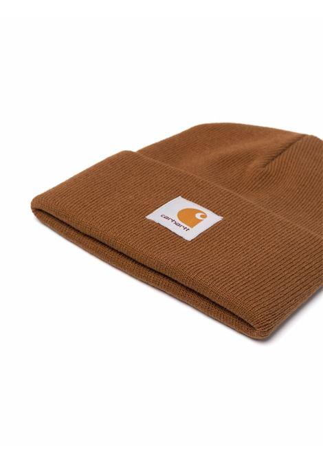 Logo knitted beanie in black - men  CARHARTT | I02022206HZXX