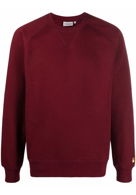 Red logo crew-neck sweatshirt - men  CARHARTT | I026383030HNXX