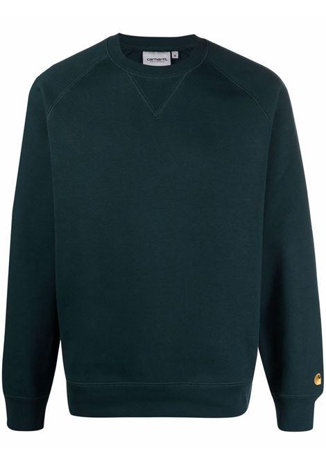 Green logo crew-neck sweatshirt - men  CARHARTT | I026383030JJXX