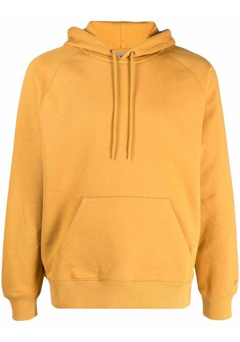Chase long-sleeved sweatshirt in mustard - men  CARHARTT | I026384030JNXX