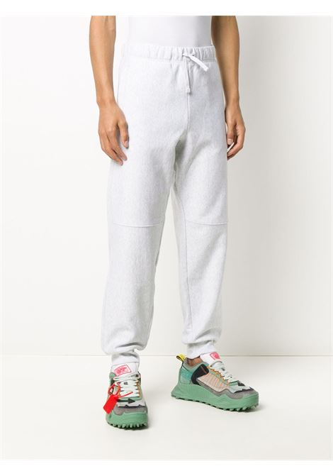 Grey embroidered logo track trousers - men CARHARTT | I02704203482XX