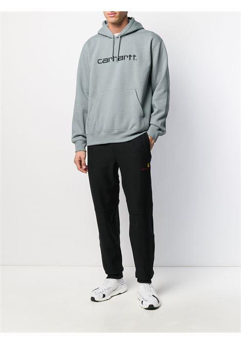 Black embroidered logo track trousers - men CARHARTT | I027042038900