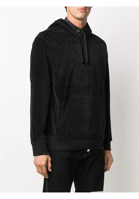 Logo-embroidered velvet sweatshirt in black - men  CARHARTT | I0282760389XX