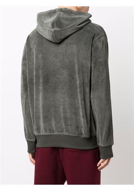 Logo-embroidered velvet sweatshirt in grey - men  CARHARTT | I02827603U1XX