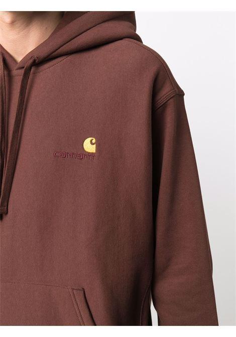 Logo-embroidered sweatshirt in brown - men  CARHARTT | I028279030EGXX