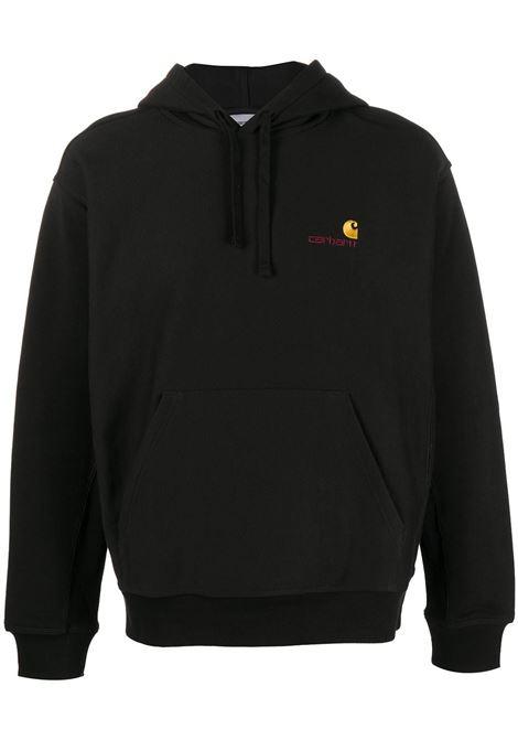 Logo-embroidered sweatshirt in black - men  CARHARTT | I0282790389XX
