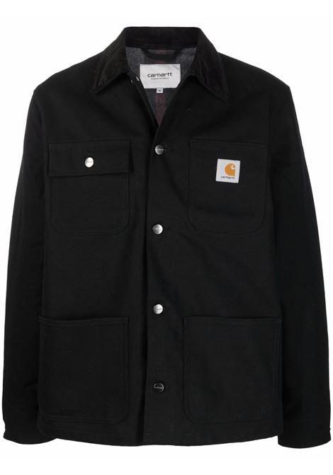 Logo-patch shirt jacket in black - men  CARHARTT | I0284250300E01