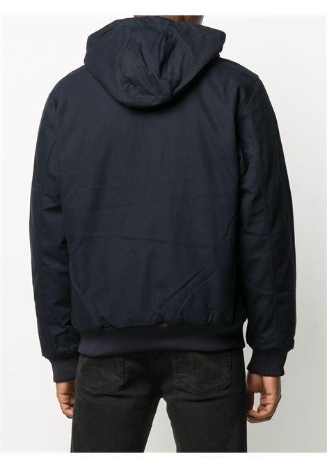 Logo patch zip-up jacket in blue - men  CARHARTT | I028426031C01