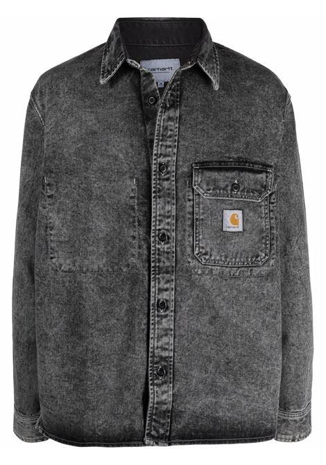 Giacca camicia con logo in grigio - uomo CARHARTT | I029155030EYZF