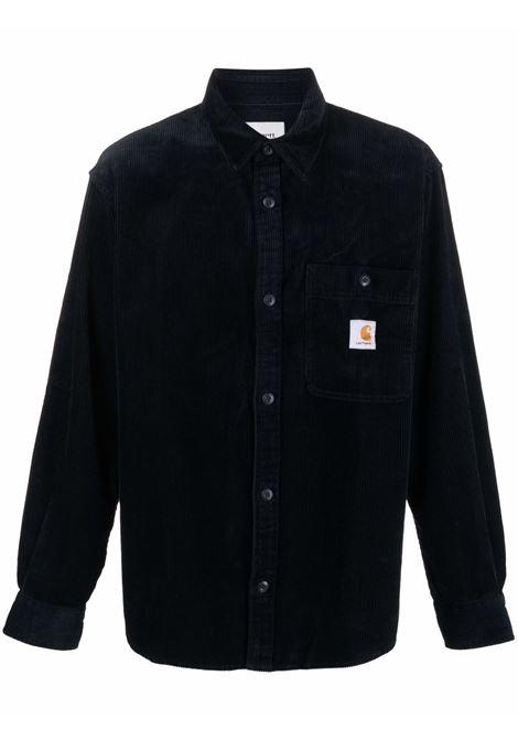 Camicia con logo in blu - uomo CARHARTT | I029442030EJ02