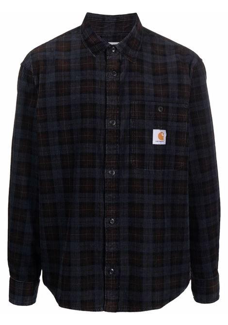 Check-print Flint corduroy long sleeved shirt - men CARHARTT | I029442030HZ02
