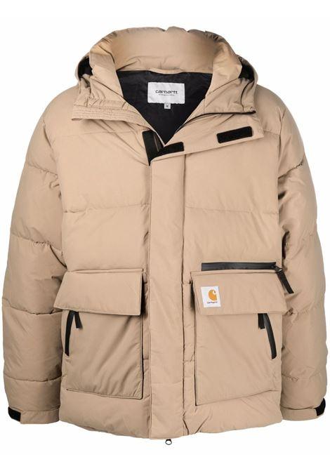 Beige logo patch padded jacket - men CARHARTT | I029449030EKXX
