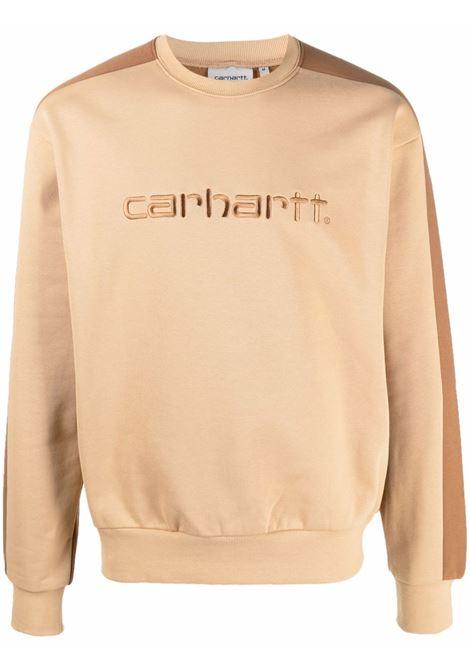 Felpa con logo in beige - uomo CARHARTT | I029574030JWXX