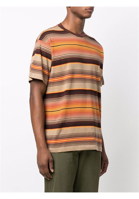 T-shirt a righe in beige  - uomo CARHARTT | I029600030K5XX