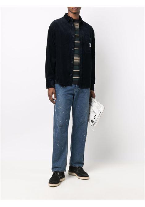 T-shirt a righe in nero e verde  - uomo CARHARTT | I029600030K7XX