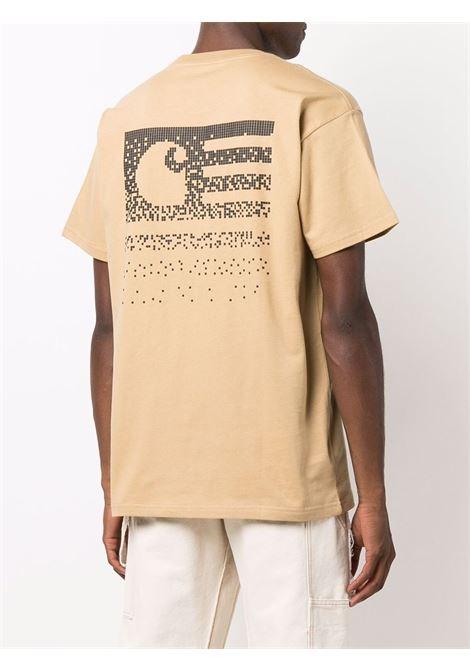 Beige logo T-shirt - men CARHARTT | I029607030IAXX