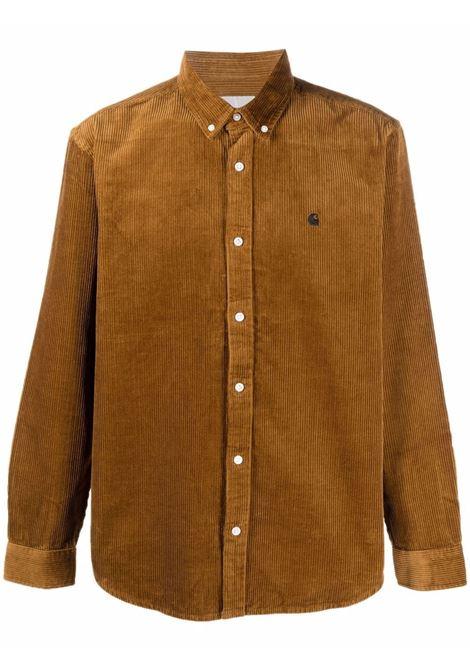 Camicia a coste in marrone - uomo CARHARTT | I029958030JAXX