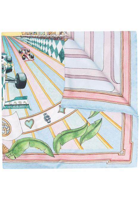 Car race silk scarf - men  CASABLANCA | AF21ACC016PRNTD