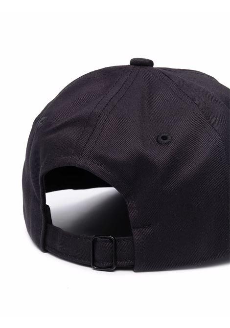 Cappello da baseball con ricamo in nero - uomo CASABLANCA | AF21HAT002BLK