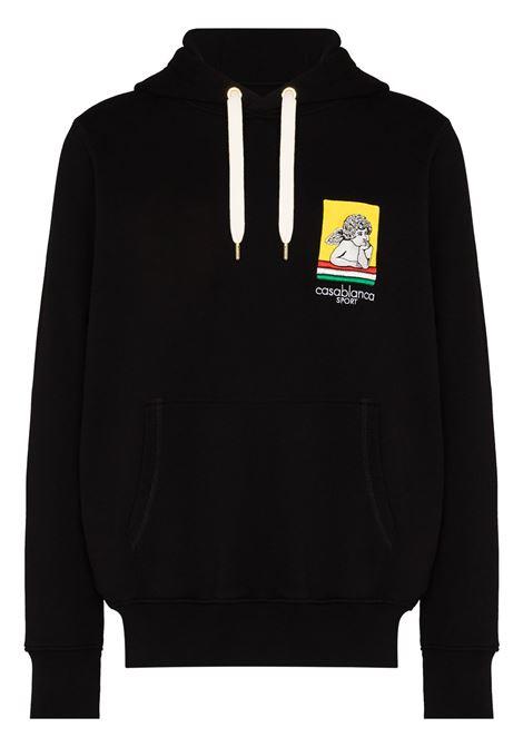 Racing hooded sweatshirt in black - men  CASABLANCA | MF21JTP003BLK