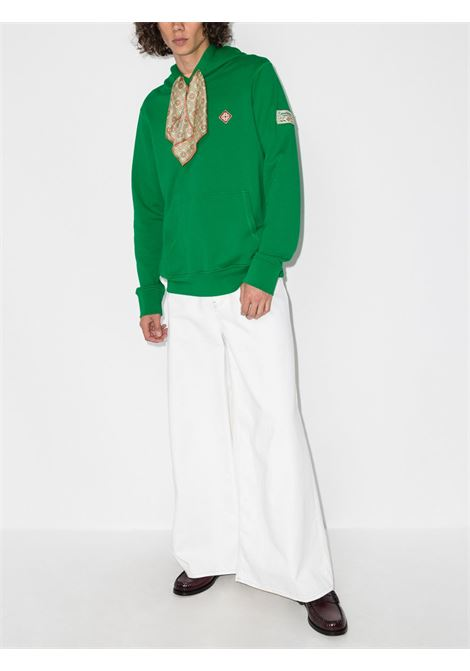 Scarf hooded sweatshirt in green - men  CASABLANCA | MF21JTP003GRN